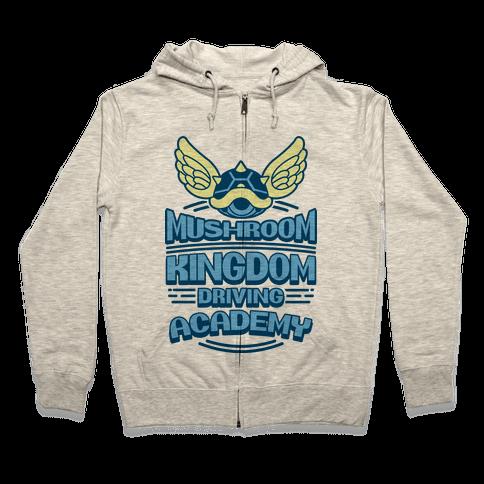 Mushroom Kingdom Driving Academy Zip Hoodie