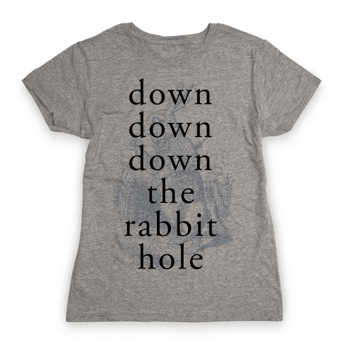 Wonderland Rabbit Womens T-Shirt