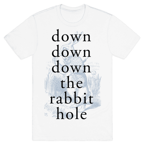Wonderland Rabbit Mens T-Shirt
