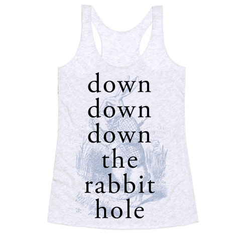 Wonderland Rabbit Racerback Tank Top