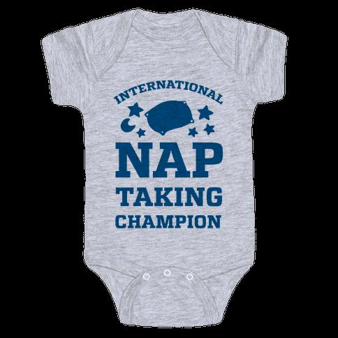 International Nap Taking Champion Baby Onesy