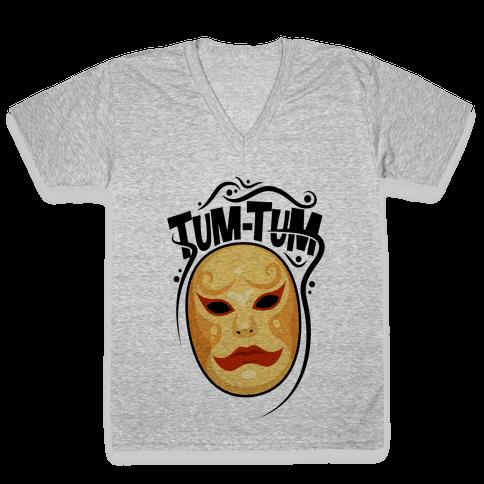 Tum-Tum Mask V-Neck Tee Shirt