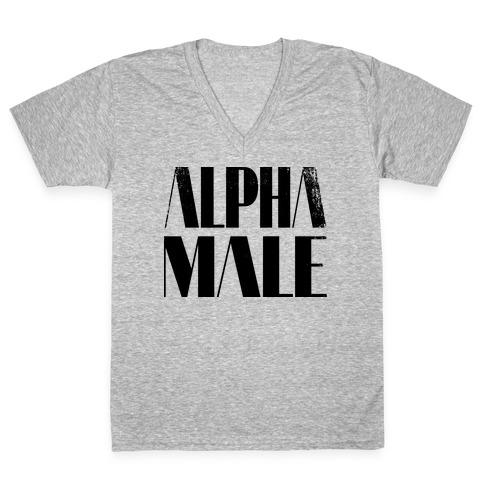8fb30873f8fb Alpha Male V-Neck Tee | LookHUMAN