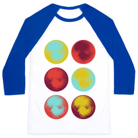Pop Art Pluto Baseball Tee