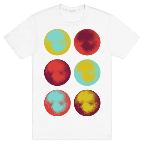 Pop Art Pluto Mens T-Shirt