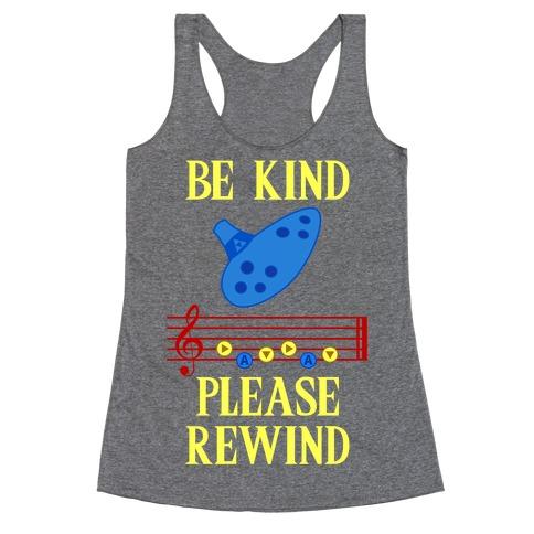 Be Kind, Please Rewind Racerback Tank Top