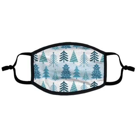 Christmas Tree Pattern Flat Face Mask