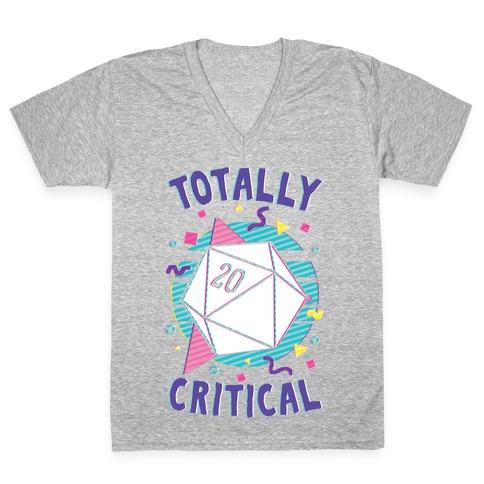 Totally Critical V-Neck Tee Shirt
