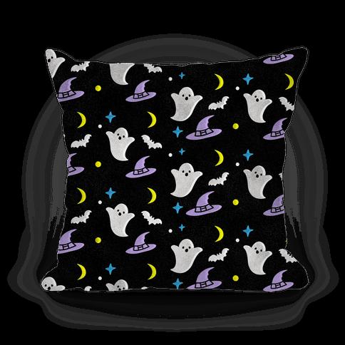 Spooky Halloween Pattern Pillow