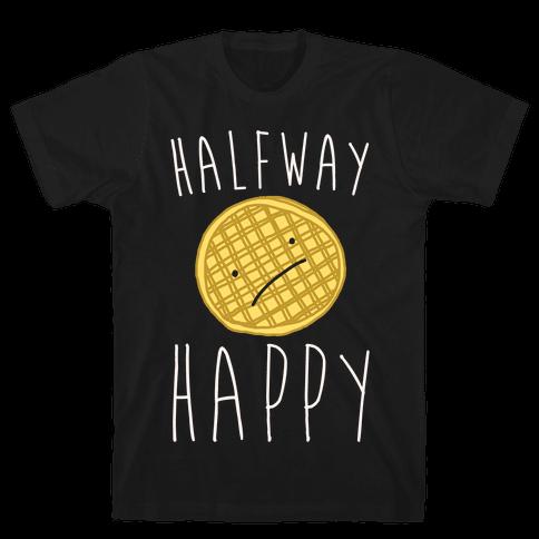 Halfway Happy Parody Mens T-Shirt