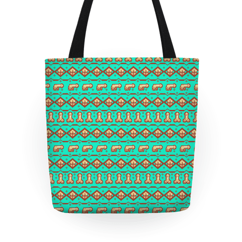 Dicks and Butts Ugly Sweater Pattern Tote