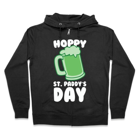Hoppy St. Paddy's Day Zip Hoodie