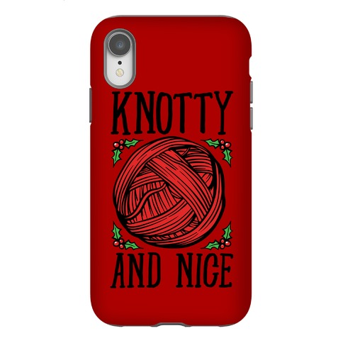 Knotty and Nice Yarn Parody White Print Phone Case