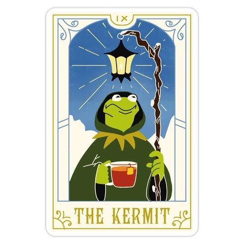 The Kermit Tarot Card Die Cut Sticker