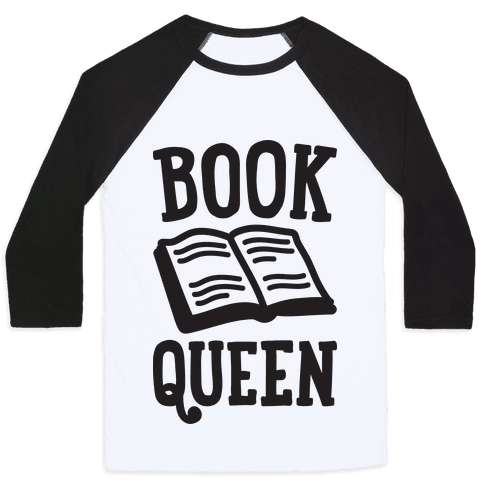 Book Queen Baseball Tee