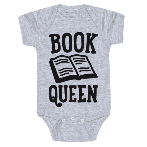 Book Queen Baby Onesy