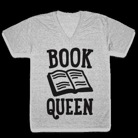 Book Queen V-Neck Tee Shirt