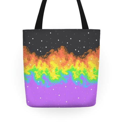 Psychedelic Nebula Pride Flag Tote