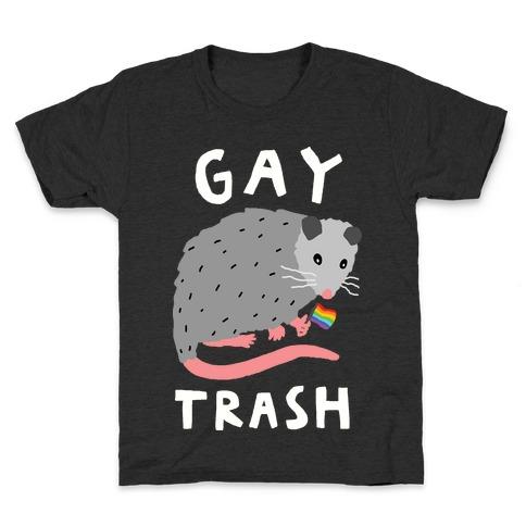 Gay Trash Opossum Kids T-Shirt