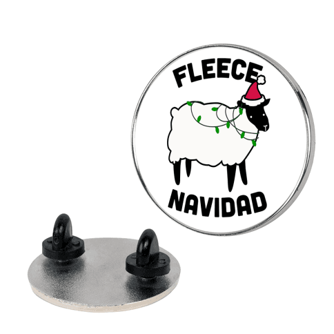 Fleece Navidad pin