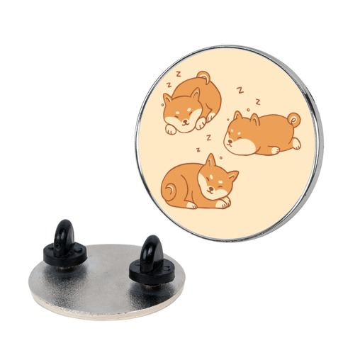 Sleepy Shibe Pattern Pin