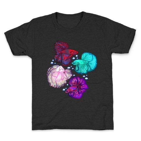 Beta Fish Pattern Kids T-Shirt