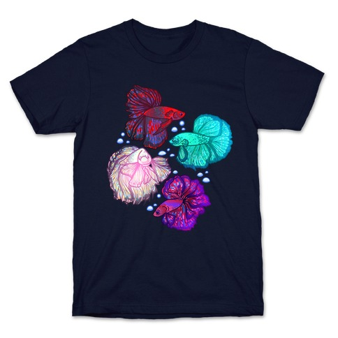 Beta Fish Pattern T-Shirt