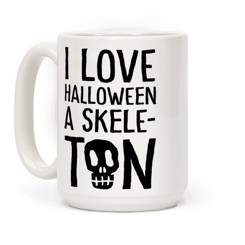 I Love Halloween A Skele-Ton Coffee Mug