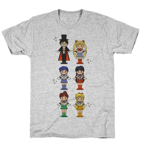 Sailor Moon Inner Senshi Pocket Parody T-Shirt