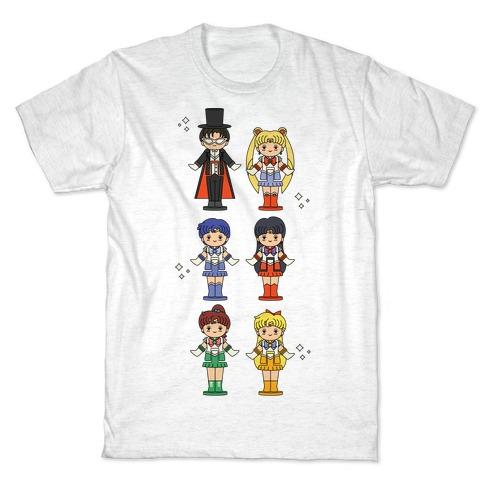 Sailor Moon Inner Senshi Pocket Parody T-Shirt