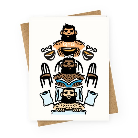 The 3 Bears Greeting Card