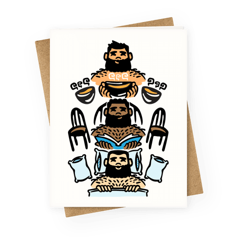 The 3 Bears Greeting Card