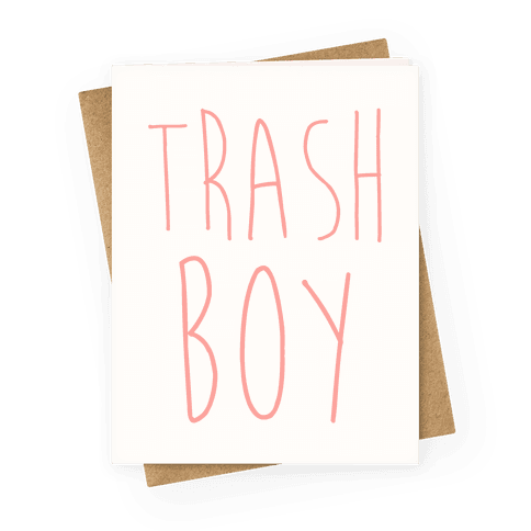 Trash Boy Greeting Card