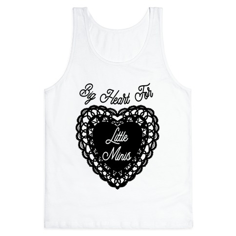 Big Heart for Little Minis White Tank Top