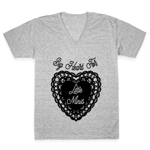 Big Heart for Little Minis White V-Neck Tee Shirt