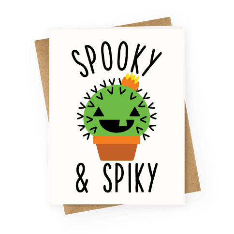 Spooky and Spiky Greeting Card