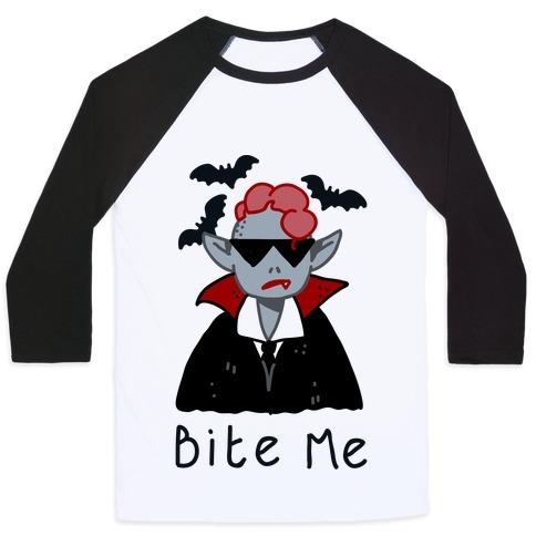 Bite Me Vampire Baseball Tee