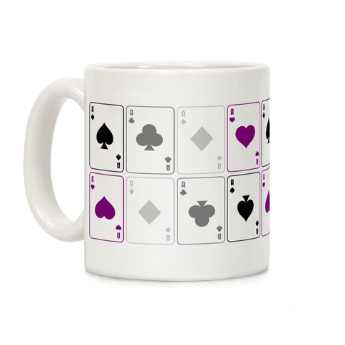 Asexual Aces Pattern Coffee Mug