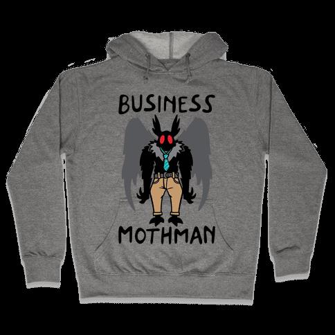 Business Mothman Parody Hooded Sweatshirt