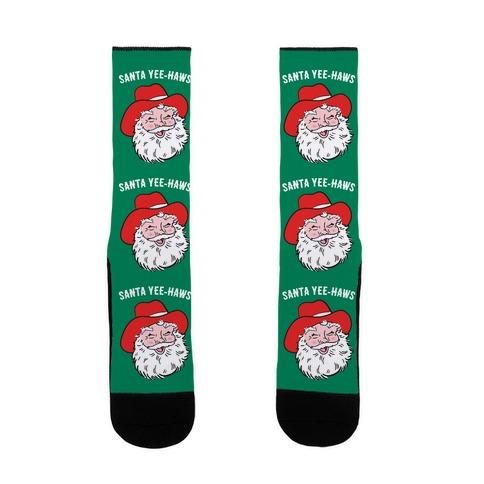 Santa Yee-Haws Claus Sock