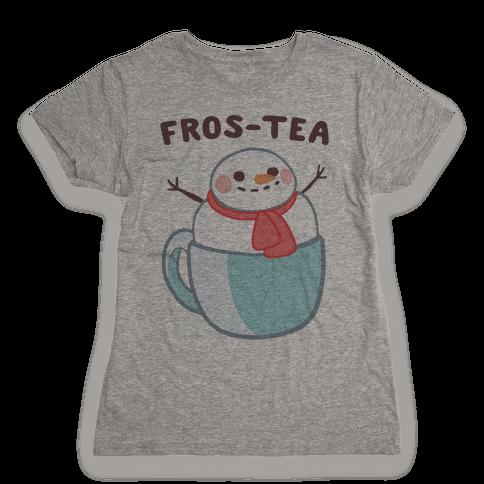 Frosty Fros-tea Womens T-Shirt