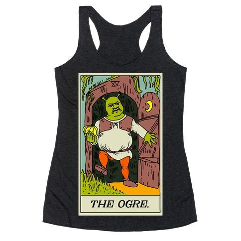 The Ogre Tarot Card Racerback Tank Top
