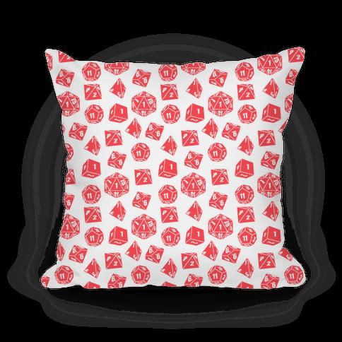 RPG Dice Pattern Pillow