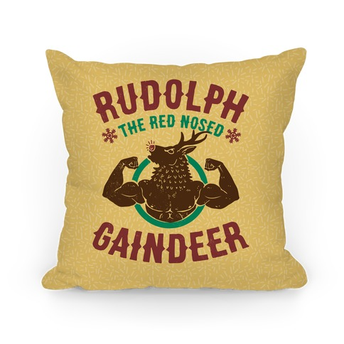 Rudolph The Red Nosed Gaindeer Pillow