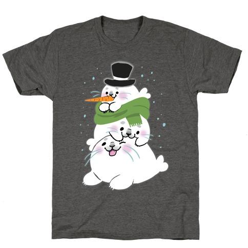 Seal Stack Snowman T-Shirt