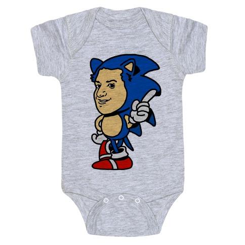 Sonic Ben Schwartz Parody Baby Onesy