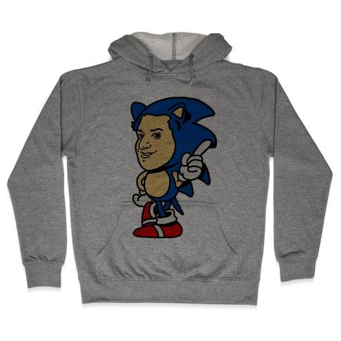 Sonic Ben Schwartz Parody Hooded Sweatshirt