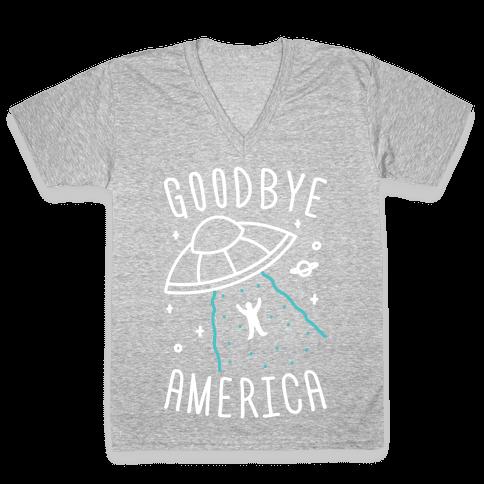 Goodbye America V-Neck Tee Shirt