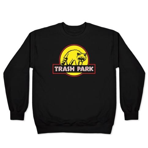 Trash Park Raccoon Parody White Print Pullover