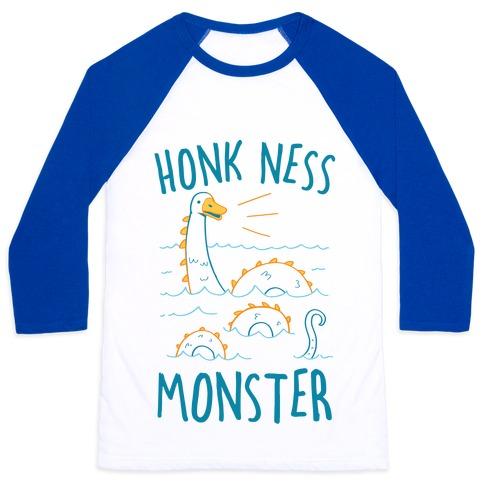 Honk Ness Monster Baseball Tee